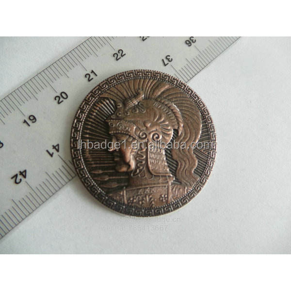3D Oude Rome Soldaat Coin, Antieke Metalen Souvenir Munt, Custom Logo Metalen Badge
