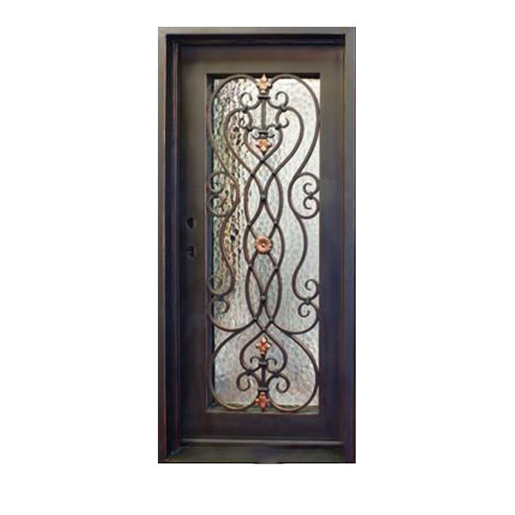 Factory Price Outside Simple Design Wrought Iron Single Door Gate