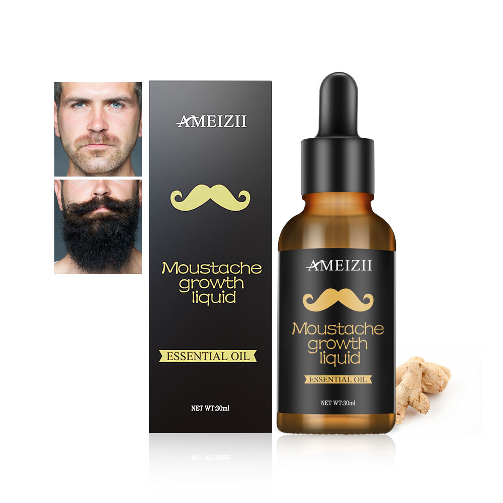 Private Label Beard Growth Oil Facial Hair Growing Essential Oil Baard Grooming Care Kit Nourishing Liquid Huile a Barbe For Men
