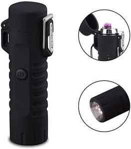 2020 Most Pop Waterproof Electric Lighter For Outdoor, Rechargeable Black Survivable Lighter Device For Light