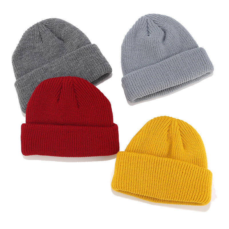 Custom Logo 100 acrylic promotion wholesale small quantity welcomed Winter Fisherman Beanie Hat