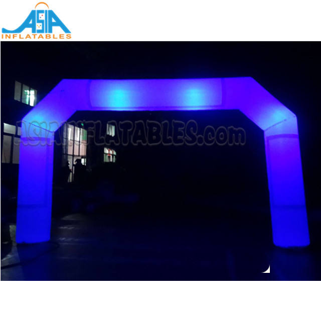 PVC Inflatable Led Light Arch White Lighting Start And Finish Line Arches For Event Decoration