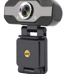 1080 HD Computer Webcam with Microphone, Auto Light Correcti
