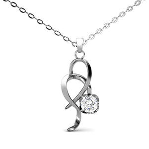 Destiny Jewellery charm knot crystal pendant necklace for women jewelry made with crystals from Swarovski
