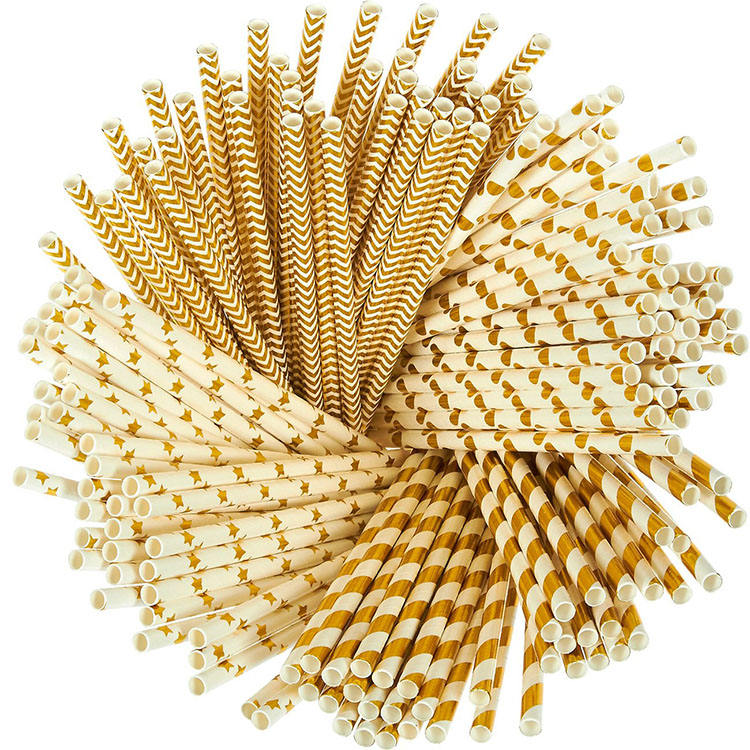 New Material Svin Eco Friendly Biodegradable Decoration Flexible Paper Straws For Juices
