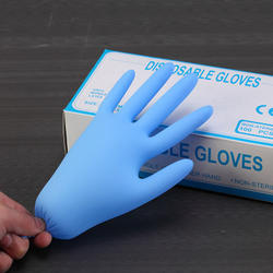 Manufacturing process of nitrile gloves  black blue dental in nitrile gloves