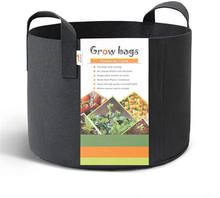 Amazon Hot Sale 5 Gallon,Vegetable/Flower/Plant Grow Bags,Aeration Fabric Pots with Handles,TOYS0130