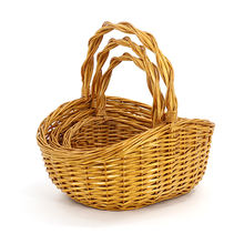Cheap willow wicker Flower/Fruit Basket Natural colour