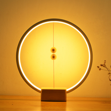 New product creative table lamp with usb port and ellipse shade heng balance magnetic floating desk table lamp