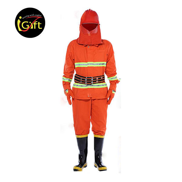 iGift Cheap wholesale custom design reflective stripe fireman clothing