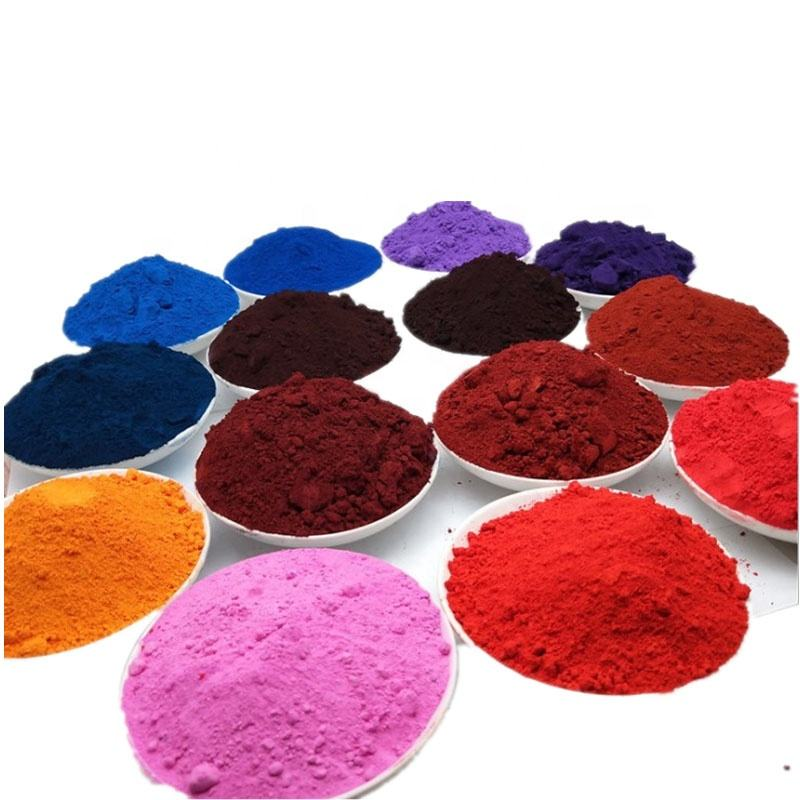 Ferric oxide red concrete color pigments