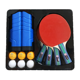 Cheap table tennis racket set 4 blade 6 balls +net with 1 Portable Case,ping pong paddle set