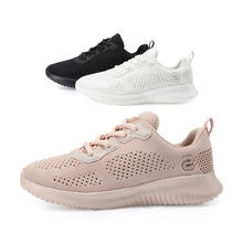 Comfortable Breathable Mesh Casual Flat Sneakers Women Pink Sport Running Shoes For Ladies