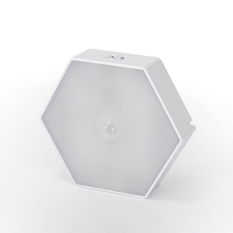 Alta calidad <span class=keywords><strong>casa</strong></span> decoración batería magnética MOQ bajo forma de hexágono de Sensor táctil Led luz de la noche