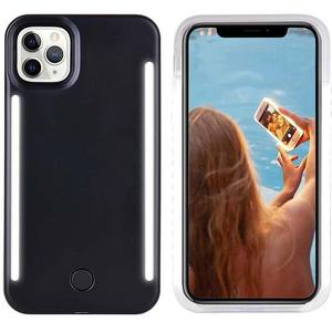 Hot Selling in Amazon LED Double Flashlight Selfie Practical Mobile Phone Cases for Iphone X for Iphone 11