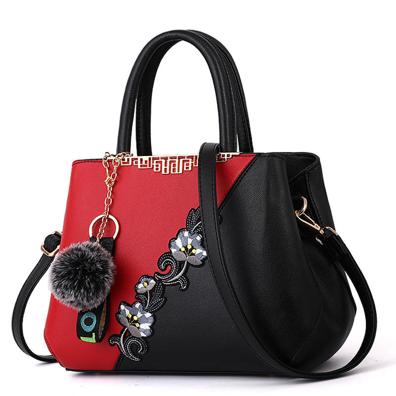 Women Top Handle Satchel Handbags PU Leather Bags Zip Closure Shoulder Tote-Bag