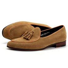 Wholesale large size suede leather shoes latest flat sole men dress shoe fashion cheap casual shoes