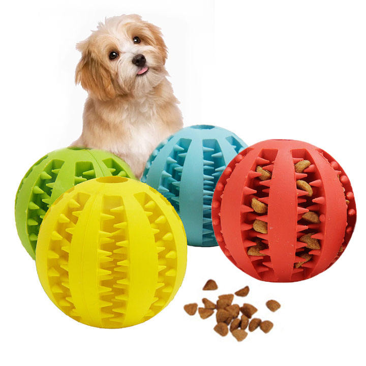 Pet Rubber Leak Food Ball Watermelon Chew Ball Dog Toy Training Balls Dog Teeth Cleaner Interactive Feed Pet Toy