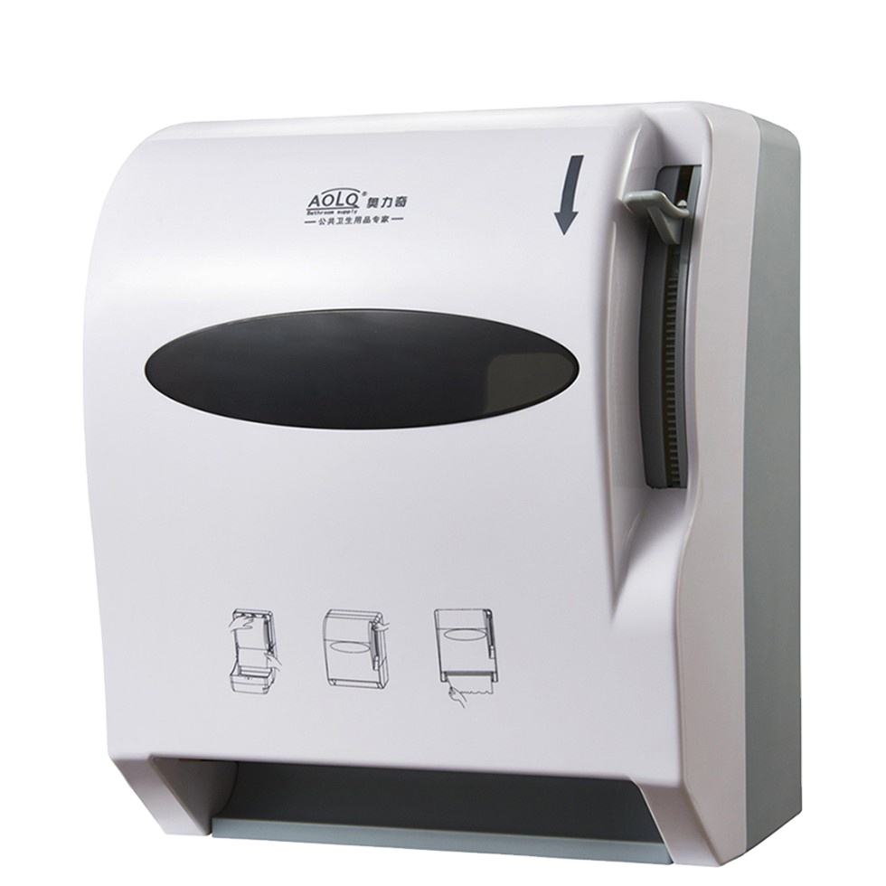 AOLQ White plastic manual lever action paper towel dispenser A1-13W