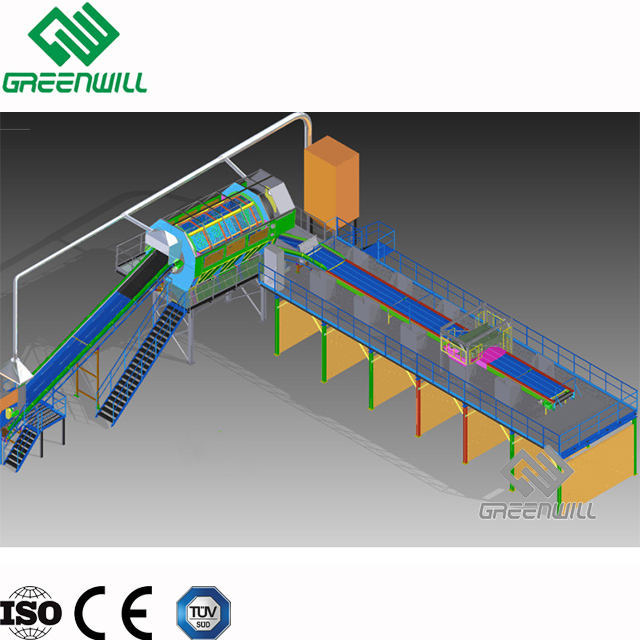 MSW/municipal solid waste sorting plant/garbage waste sorting machine line