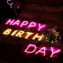 Decorative neon signs wholesale custom  flex led neon letter light sign all colors