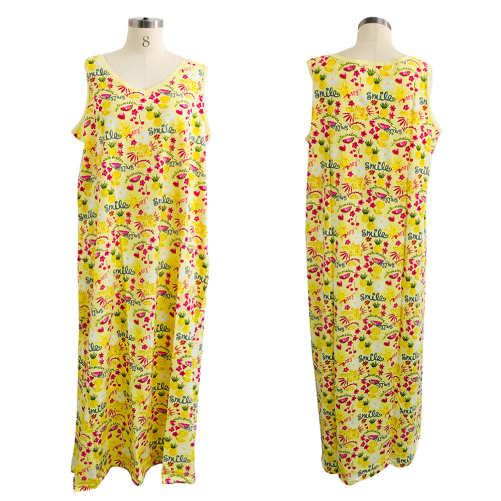 2020 LATEST SUMMER FASHION MAXI WOMEN SLEEPING DRESS SEXY GIRLS DRESS