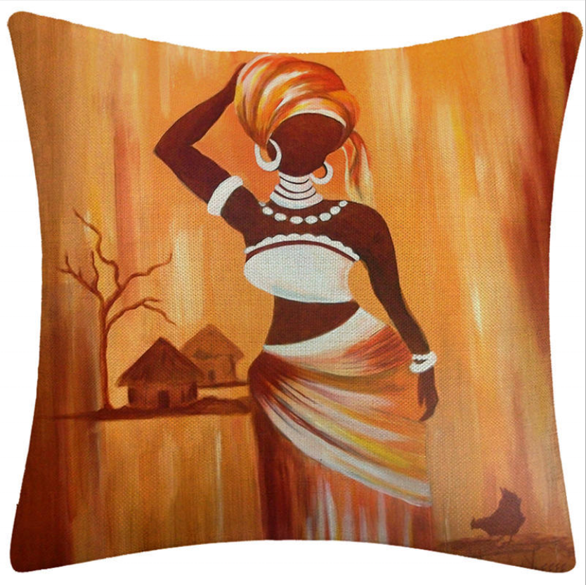 Square Sofa Printed African Pillow Case Cover