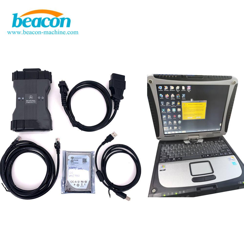 Ordenador portátil CF 19 + MB STAR C6 multiplexor para Benz mb <span class=keywords><strong>SD</strong></span> conectar xentry epc VXDIAG C6 herramienta de diagnóstico escán