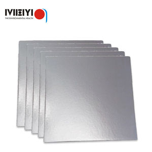 Edge Wrapped 3mm Thick Silver Round 10inch Compressed Cake Board Wholesale Compressed Cake Board