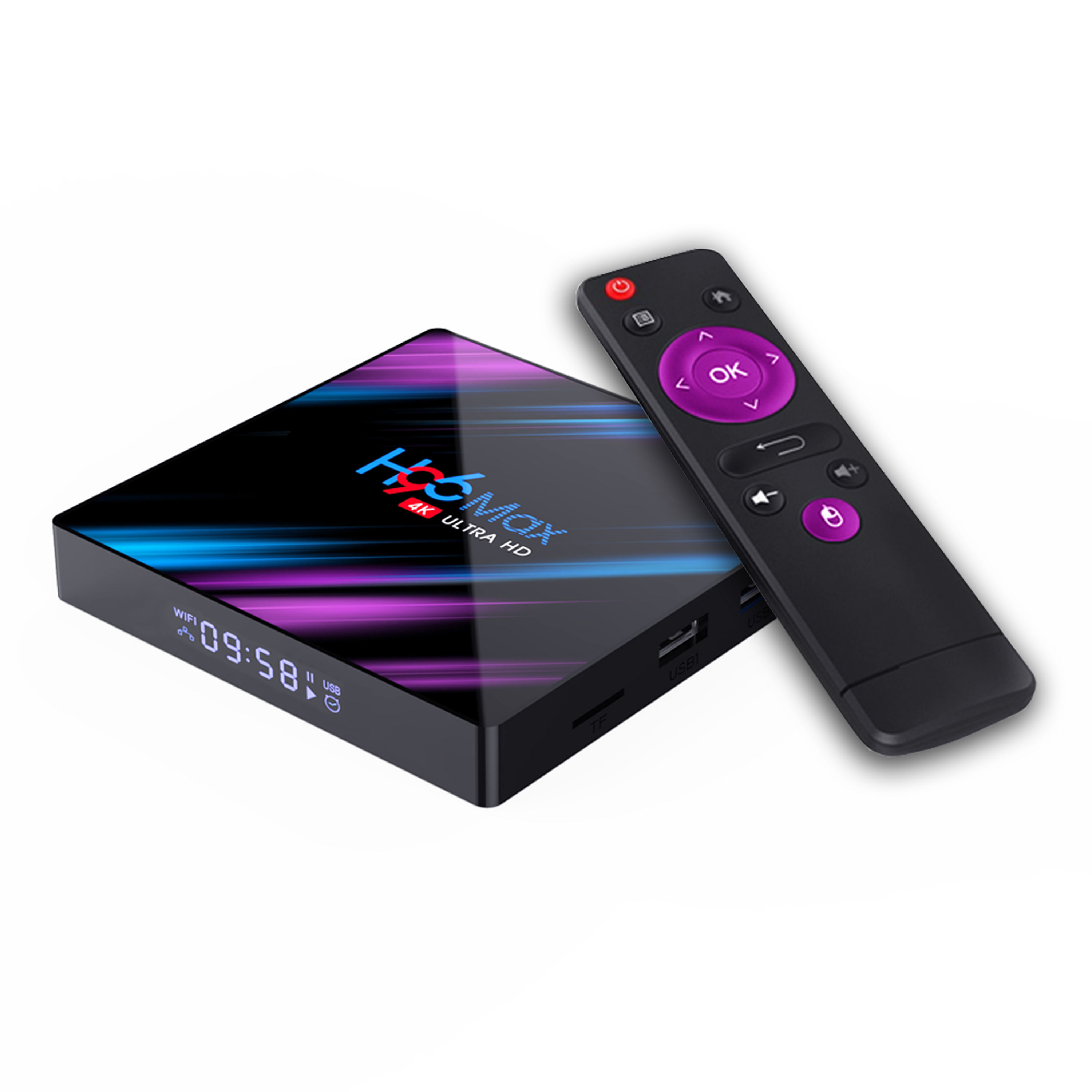 2020 Newest TV box Quad Core Android 9.0 3D video formats 4GB 32GB Internet H96 Max-3318 Android TV Box