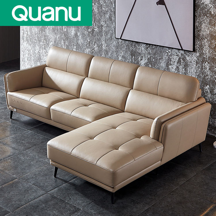 Top Quality hot selling Living Room Furniture modern design leather sofa adjustable Sectional Sofa