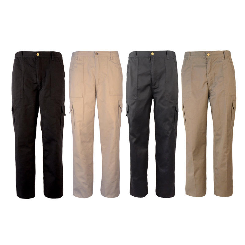 In Stock Available Heavy-duty Button Fly Cargo Six Pockets Work Pant For Men Working