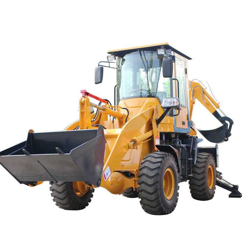 Mini Traktor dengan Front End Loader Kecil Backhoe Loader