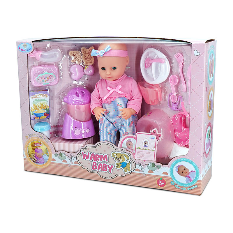 WARMBABY Wholesale Luxury Doll Gift Baby Kitchen Toy Pretend Play Set For Children