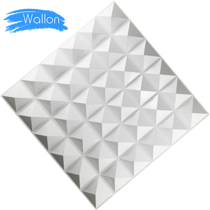 "FREE SHIPPING Builder Special Design PVC Coated Panel, White, 19.69"" x 19.69"", 500x500MM,12PCS/Box"