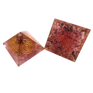 5 Element Chakra Orgone Positive Energy Engraved Pyramid Wholesale Orgonite Supplier