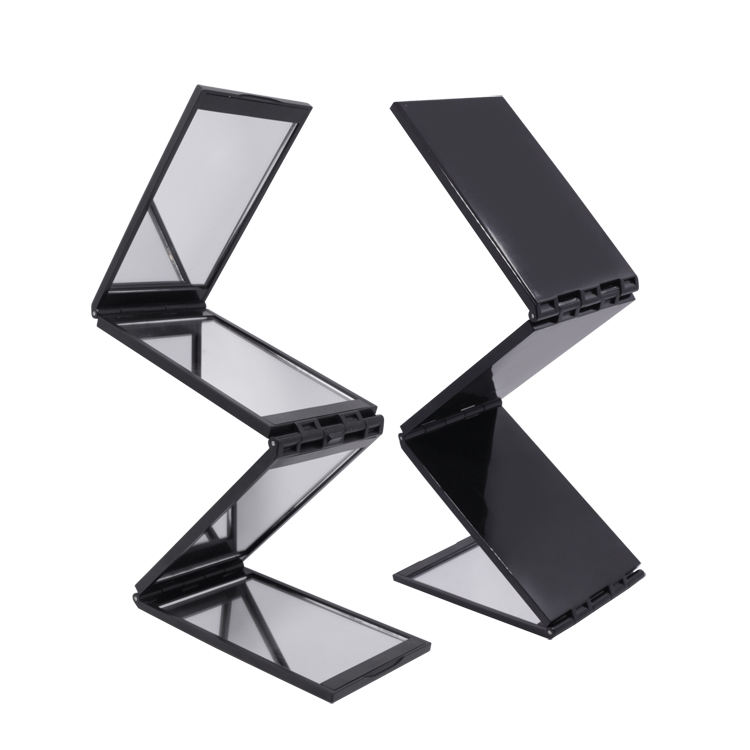 Wholesale compact mirror 4 ways folding pocket mirror for make up