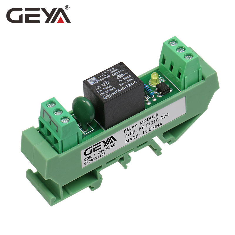 GEYA 1 Channel 5V Relay Module 12V 24V 230V 1CH Relay Module Electromagnetic Sub-miniature Intermediate Power Relay