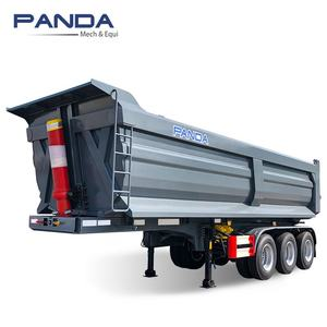 Rear Tipping Tipper Semi Truck Dump Trailer 3 4 Axles 40 CBM 45 Cubic meters 50ton 70ton for sand gravel clinker For Sale