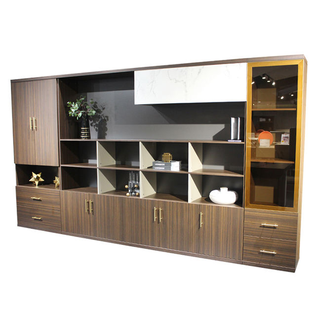 China wholesale wooden file cabinet office furniture multi doors storage cabinet drawer