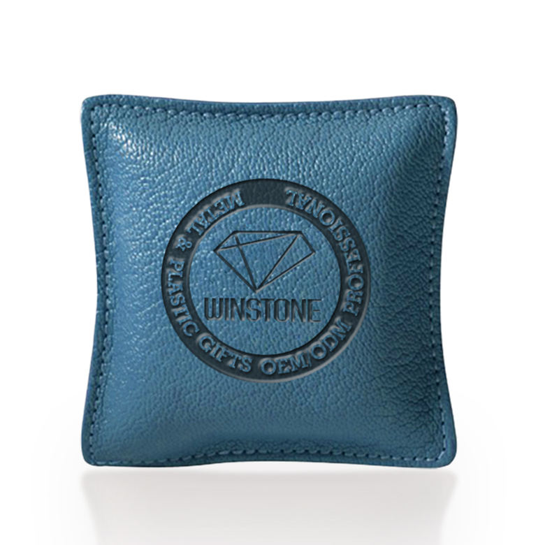 Customized Deluxe Real Leather square Paperweight Poster Weights also for stress reliever