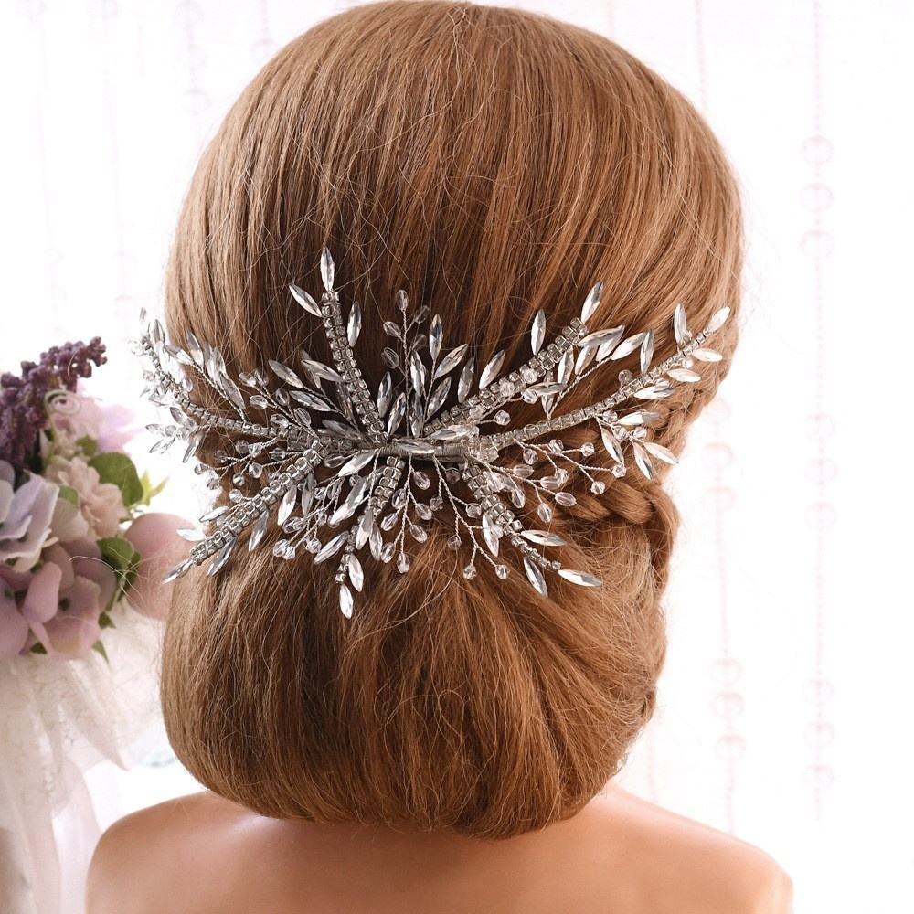 Cheerfeel Handmade crystal wedding diamond headpiece hair vines bridal accessories SP-259