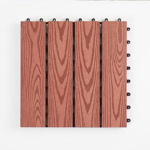 balcony outdoor floor tile wpc flooring wood texture solid decking 300 x 300 x 22 mm wood fiber+HDPE WPC DIY interlock deck tile