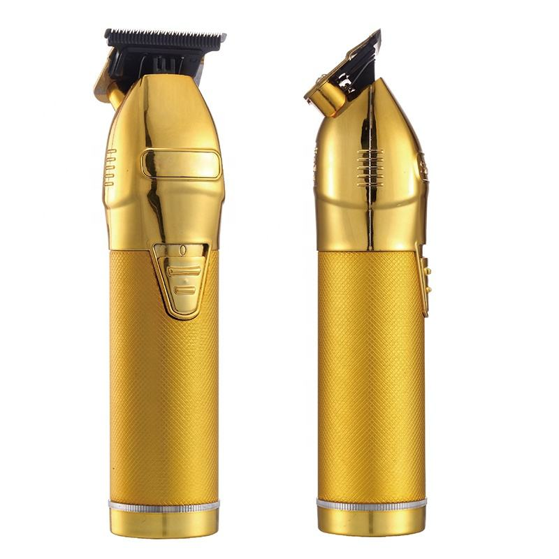 Golden Barber Hair Clippers Electric Hair Trimmer T-Blade Outliner Cordless Trimmers PRO Gold Barber Hair Trimmer Clippers