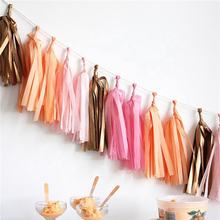 Nicro High Quality Party Hanging Balloon Decoration Diy Pet Foil Tissue Paper Tassel Garland