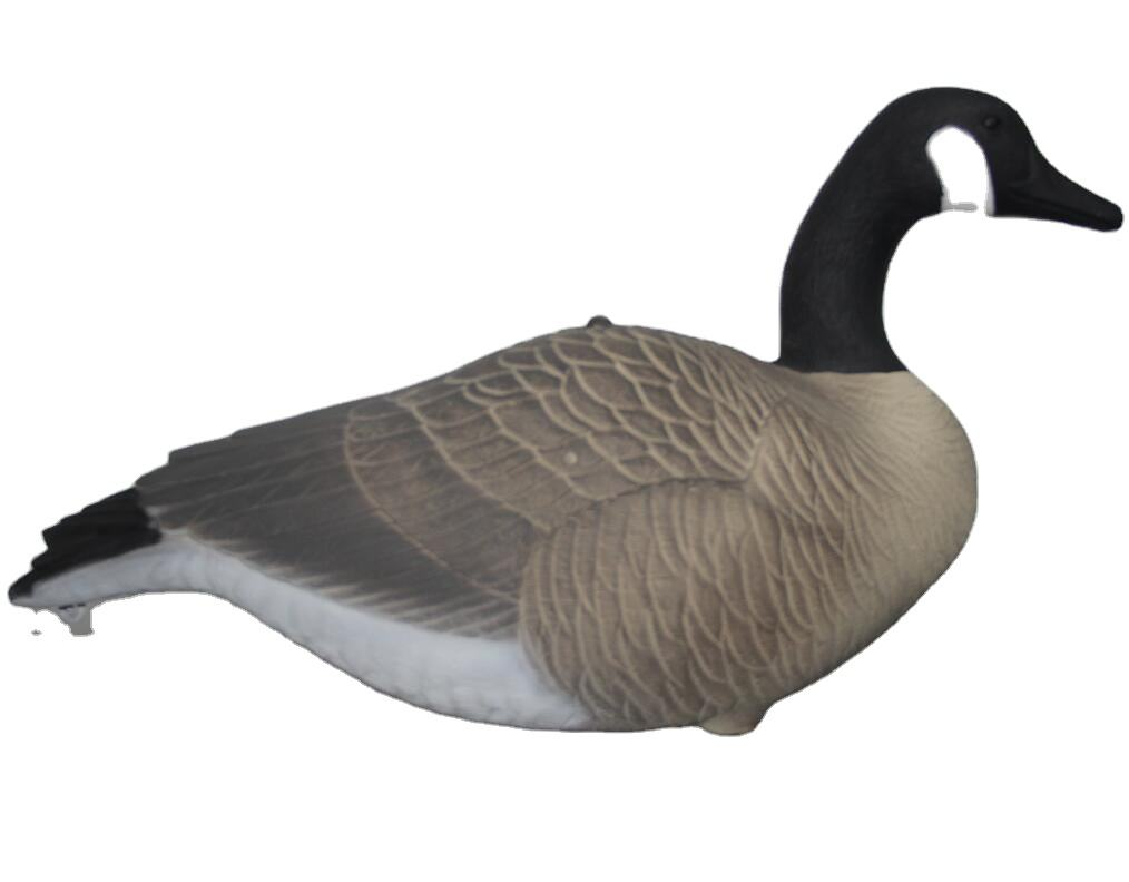 Outdoor goose decoy flocked full-body canadian goose decoys for goose hunting