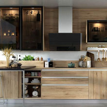 Modern Luxury wood Kitchens cheap price prefab house kitchen Modular kitchen cabinets designs