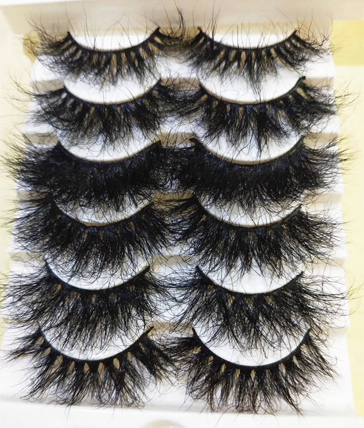 Super Fluffy 25MM 3D Mink Eyelash Custom Logo Eyelash Case Extra Dramatic Long Thick Curl Mink Eyelashes