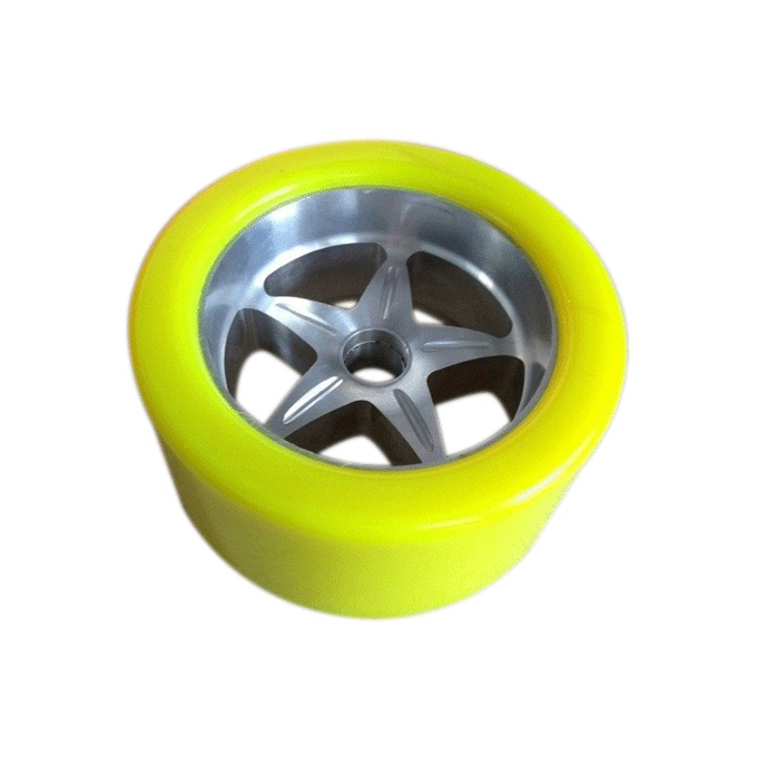Custom Long Skate Board Inline Flashing Wheels Coating Rubber Polyurethane Chain Factory Conveyor Trailer Round Roller