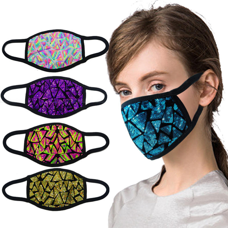 Fast Delivery Fashion Face Maskes Polyester Cotton Blank Dust Maskes